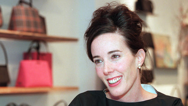American designer Kate Spade in New York in 1999.