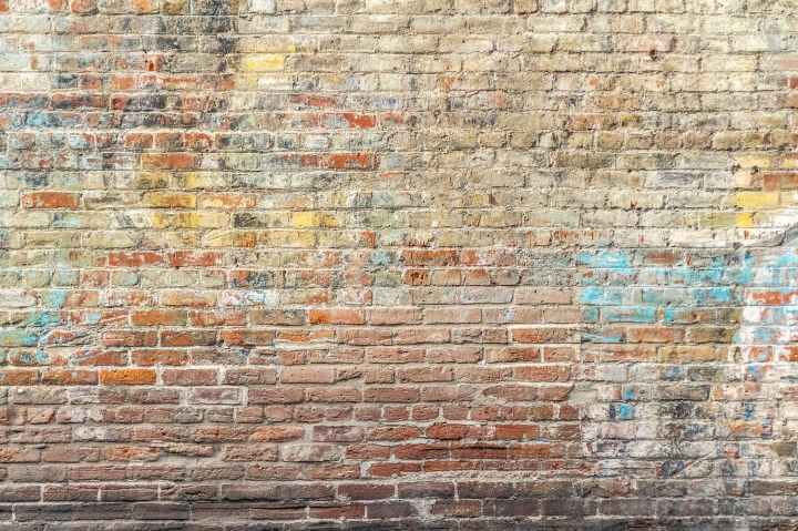 closeup photo of brown brick wall